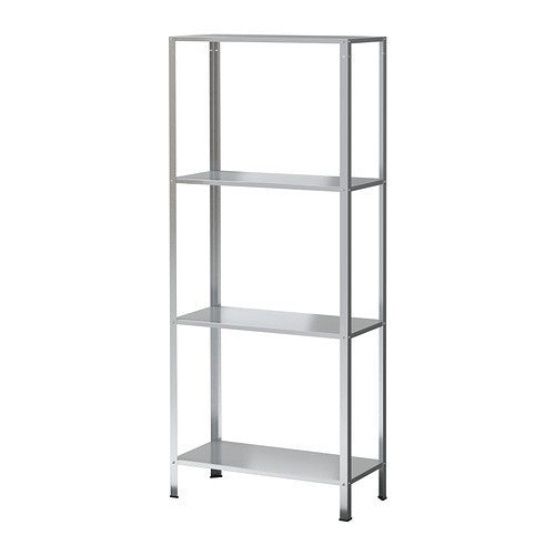 IKEA HYLLIS SHELVING UNIT 60X27X140CM GALVANISED