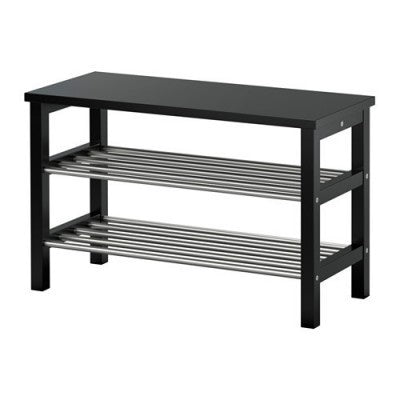IKEA TJUSIG BENCH WITH SHOE STORAGE 81X50CM