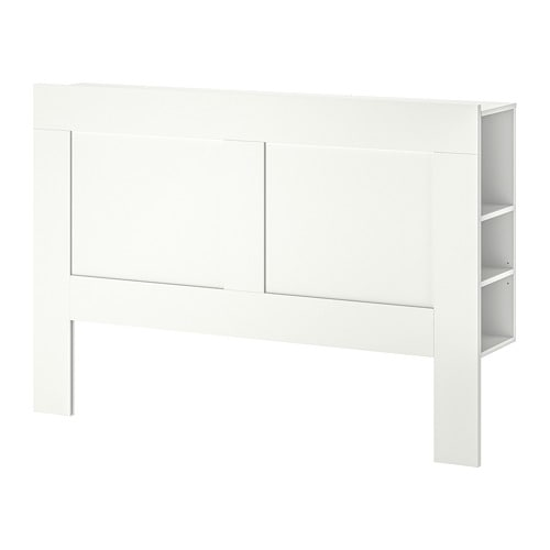IKEA BRIMNES HEADBOARD WITH STORAGE WHITE 150CM