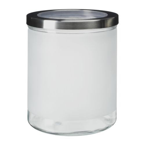 IKEA DROPPAR JAR FROSTED GLASS 3.5L