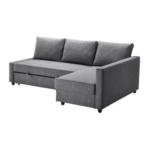 IKEA FRIHETEN CORNER SOFA BED SKIFTEBO DARK GREY