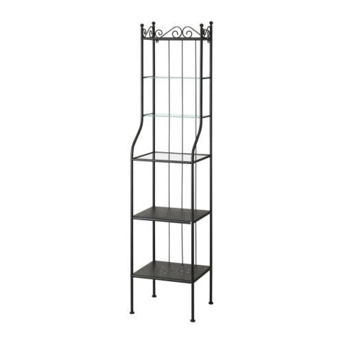 IKEA RÖNNSKÄR SHELVING UNIT 42X176CM BLACK