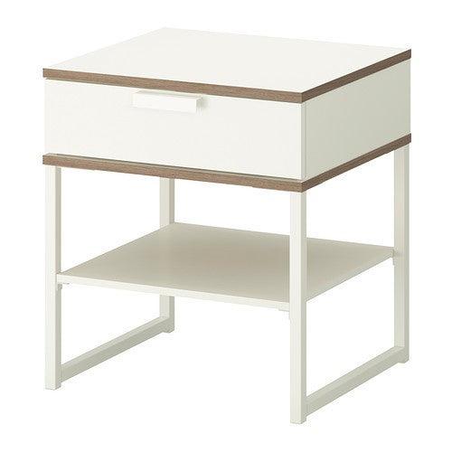IKEA TRYSIL BEDSIDE TABLE 45X40CM WHITE
