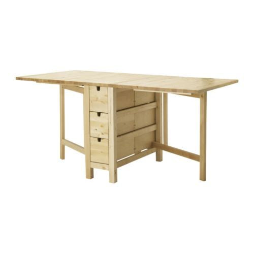 IKEA NORDEN GATELEG TABLE, 26/89/152X80CM