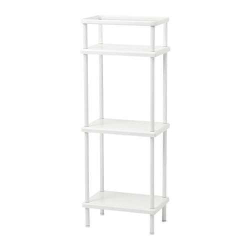 IKEA DYNAN SHELF UNIT W/ TOWEL RAIL 40X27X108CM WHITE