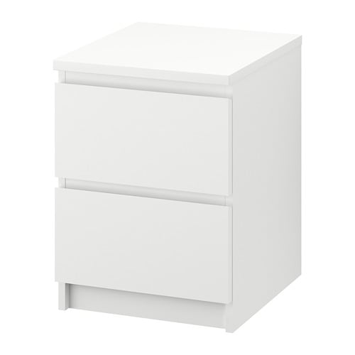 IKEA MALM CHEST OF 2 DRAWERS 40CM x 55CM