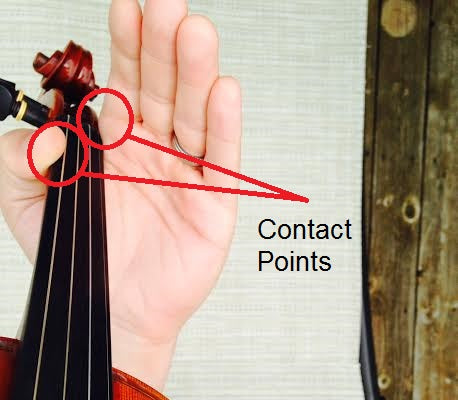 violin left hand position