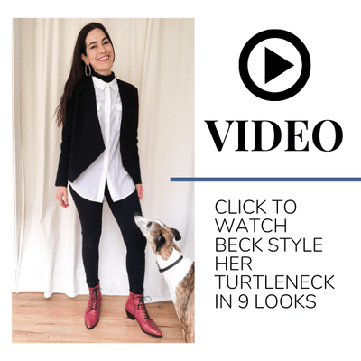 Beck shows us how to style the Tani Turtleneck Top into 9 looks