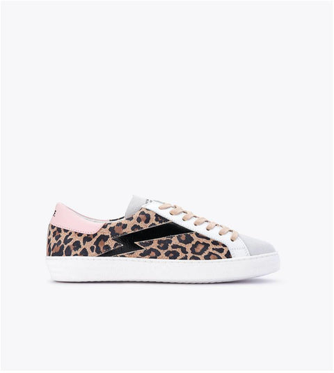 Department of Finery Alice Sneaker Sherbet Leopard
