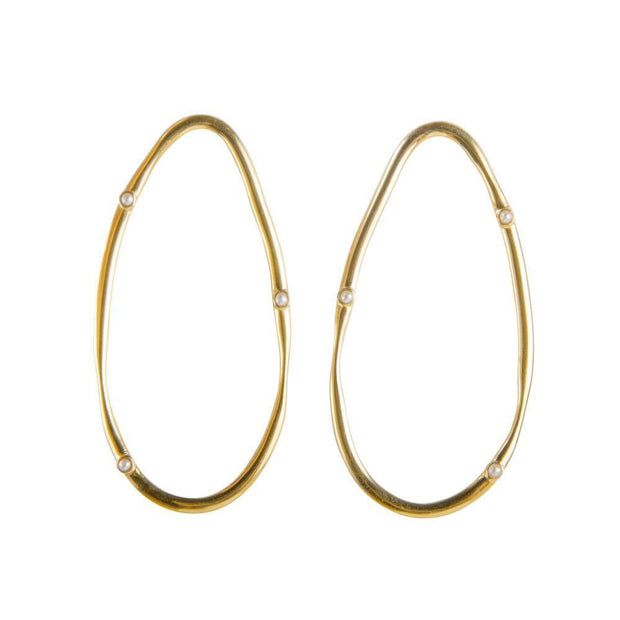 Fairley Pearl Ellipse Earrings