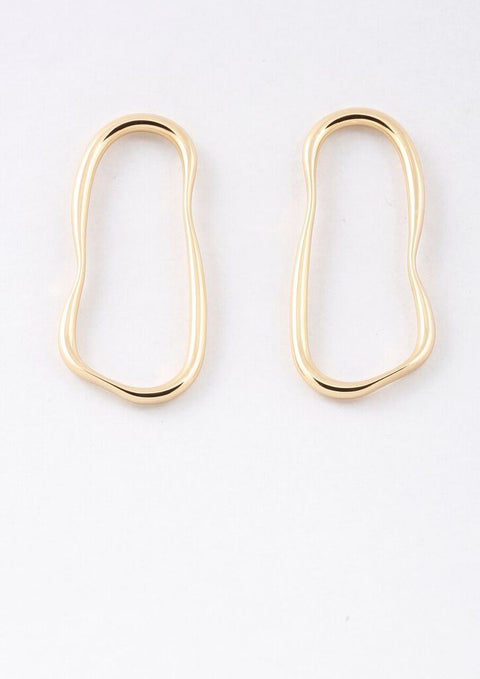 Peter Lang Majorelle Hoop Stud Earrings - Impulse Boutique