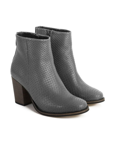 MAYA MCQUEEN 'Olive' Perforated Boot - Impulse Boutique