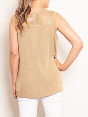 M.A. Dainty Lillith Gold Knit Tank - Impulse Boutique