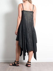 Mela Purdie Spinnaker Dress Glitter Stripe Mousseline - Impulse Boutique