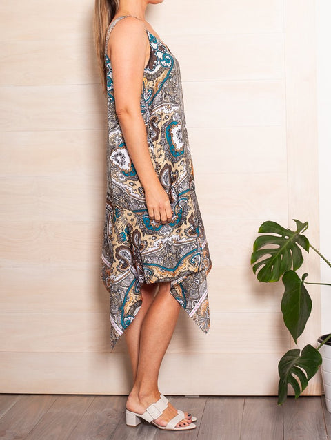 Mela Purdie Madina Dress Villa Paisley Satin - Impulse Boutique