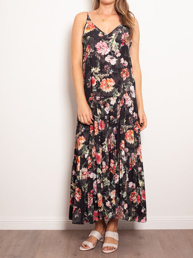 Mela Purdie Mumbai Maxi Dress Full Bloom Mousseline