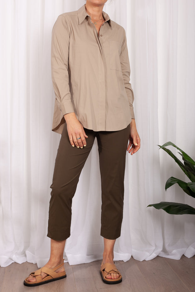 Mela Purdie Riding Blouse Monet Floral Satin