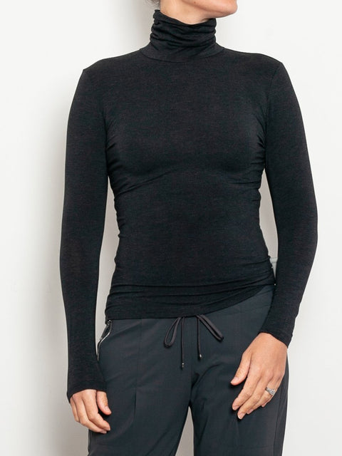 Tani Marl Micromodal Turtle Neck Top - Impulse Boutique