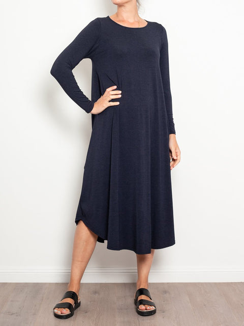 Tani Marl Long Sleeve Tri Dress - Impulse Boutique