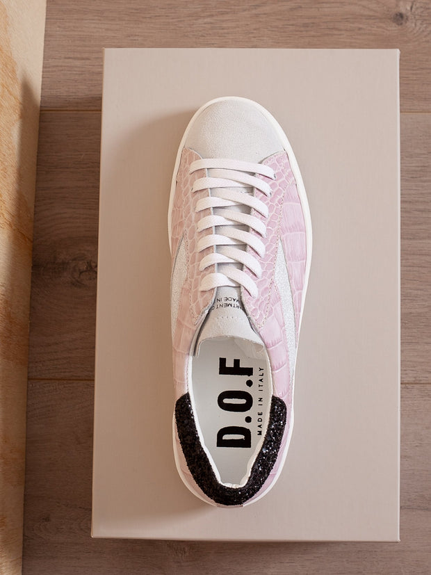 Alice Lilac Croc Sneaker - Impulse Boutique