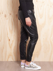 Once Was Libreria Relaxed Leather Pant