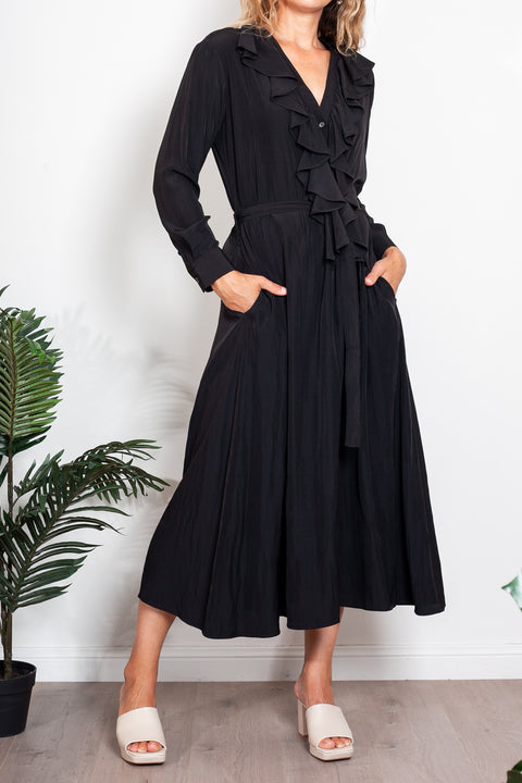 Mason Dress Canary Stripe