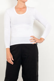 Tani Scoop Neck Long Sleeve Top