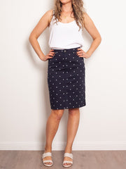 Vassalli Stretch Twill Printed Skirt - Impulse Boutique