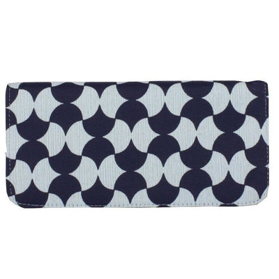 NAVY TILE LONG WALLET