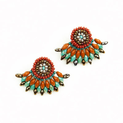 FEATHERED PLUME BOHO EAR JACKETS: SOUTHWEST