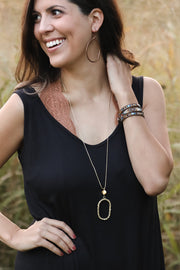 BRASS HOLLOW NECKLACE