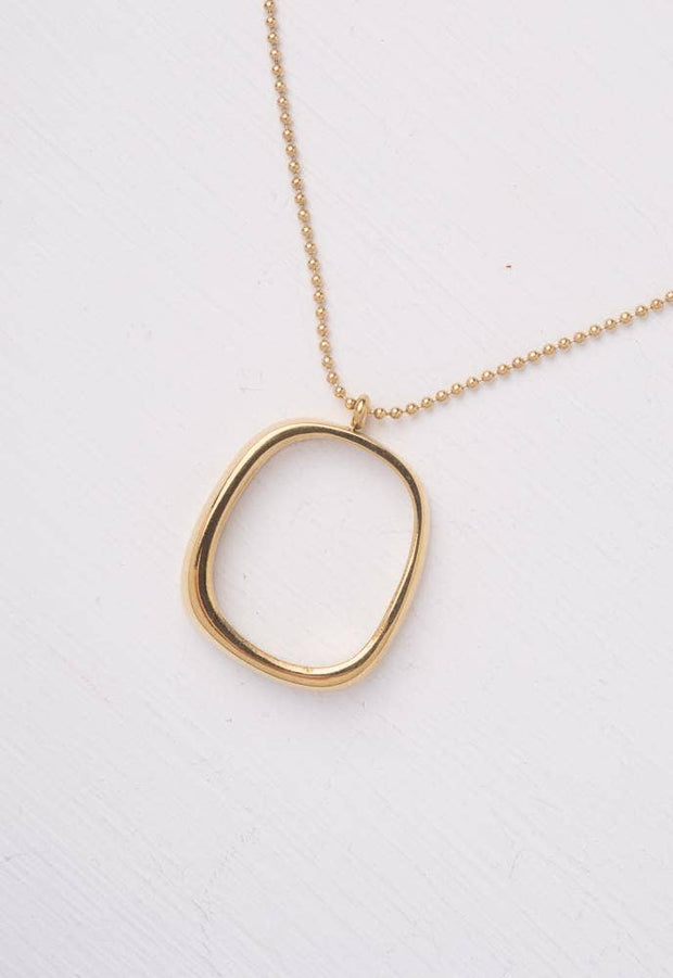 ORGANIC RING PENDANT NECKLACE