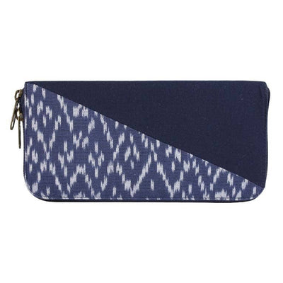 IKAT ZIP AROUND WALLET IN NAVY