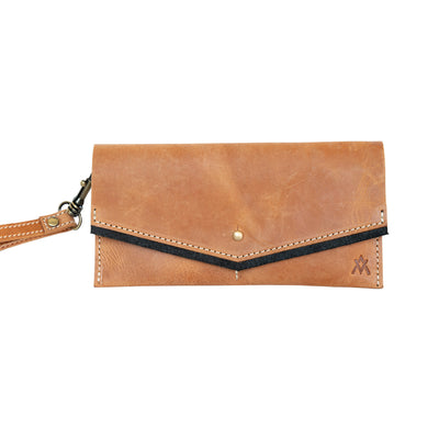 LEATHER WRISTLET WALLET