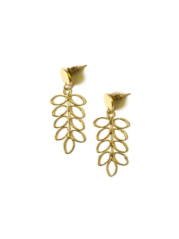 LAUREL LEAF STUDS