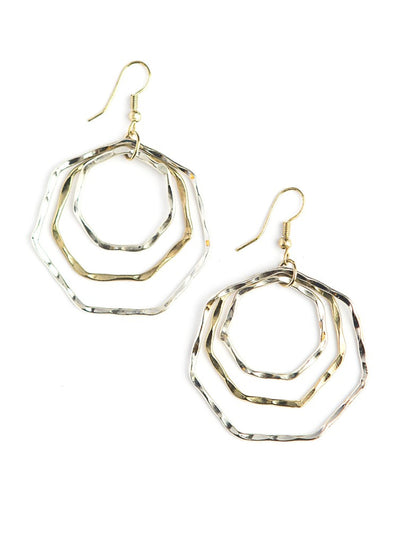 TRIPLE HEXA MULTI METAL HOOPS
