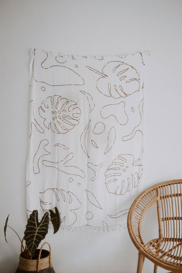 MONSTERA TAPESTRY
