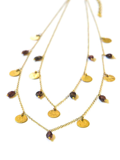 GEMS + COINS NECKLACE