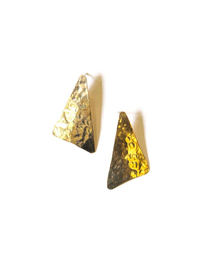 TEXTURED TRIANGLE EARRINGS