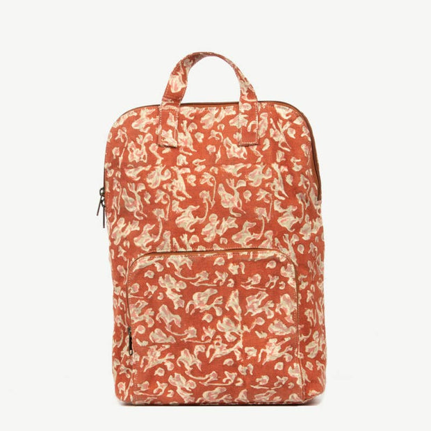 BLOCK PRINTED FABRIC BACKPACK