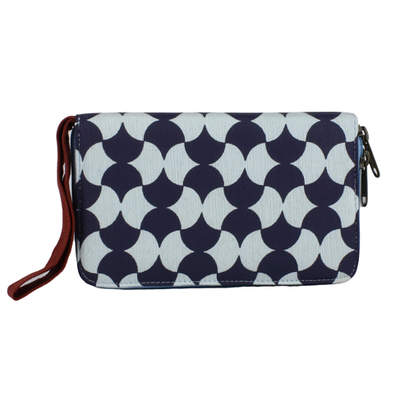 NAVY TILE TRAVEL WALLET
