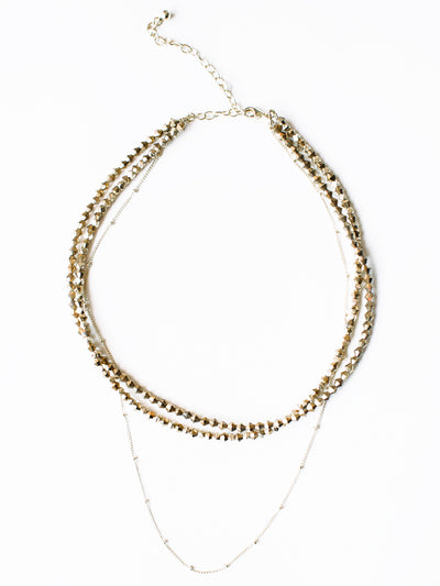 BEADED GOLD CHOKER NECKLACE