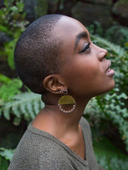 NEW HORIZON LEATHER EARRINGS