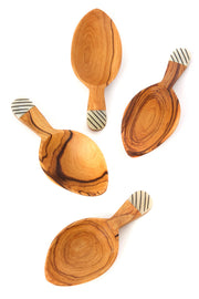 OLIVEWOOD STRIPED LEAF SCOOPS