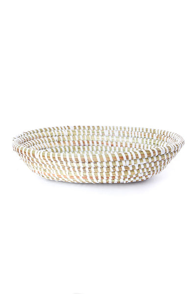 WHITE OVAL BASKET