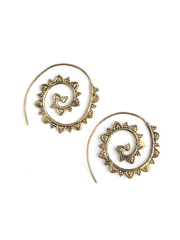 SPIRAL JETTY EARRINGS