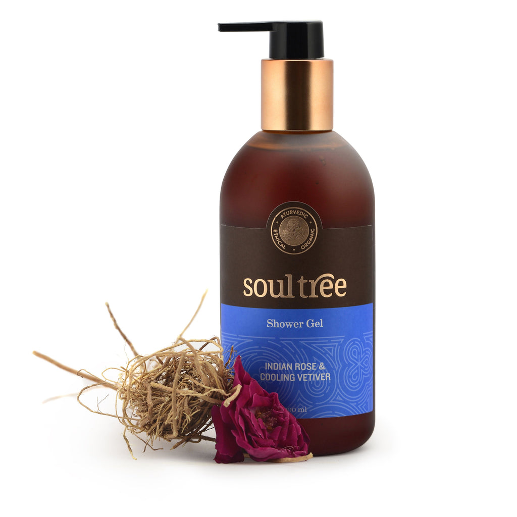 INDIAN ROSE & COOLING VETIVER SHOWER GEL