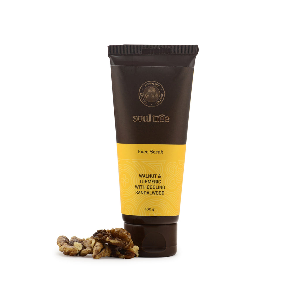 FACE SCRUB - WALNUT & TURMERIC WITH COOLING SANDALWOOD