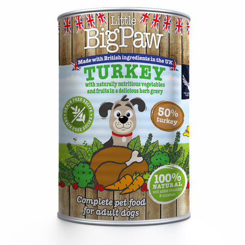 Little Big Paw Naturally Delicious Turkey 390g