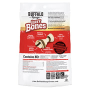 Buffalo Range Natural, Grain Free Jerky Bone Rawhide Bones 3pc